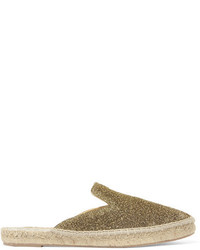 Maneb lurex espadrille slippers gold medium 5083012