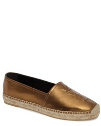 Saint Laurent Metallic Logo Espadrille