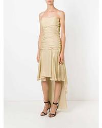 Jean Louis Scherrer Vintage Draped Strapless Train Dress
