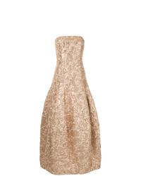 Paule Ka Long Strapless Gown