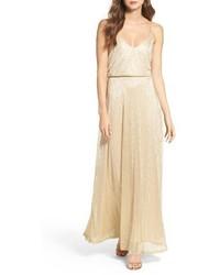 LuLu*s Lulus Blouson Shimmer Gown