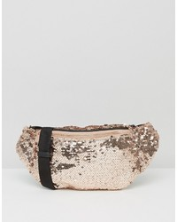 Asos Metallic Sequin Fanny Pack