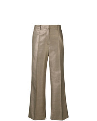 Golden Goose Deluxe Brand Flared Cropped Trousers