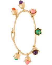 Aurelie Bidermann Coloured Bead Floral Bangle