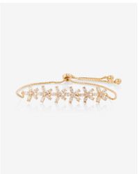 Express Floral Metal Pull Cord Bracelet