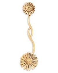 Aurelie Bidermann Athina Floral Single Drop Earring