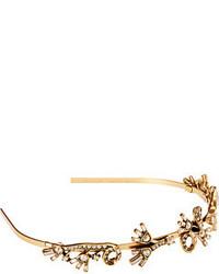 Oscar de la Renta Floral Baguette Headband