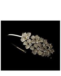 Melissa Kay Collection Gold Tone Rhinestone Crystal Flowers Wedding Bridal Headband Tiara