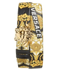 Versace Baroque Print Leather Belt