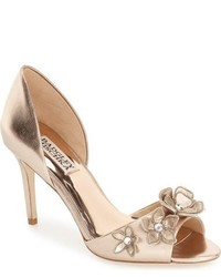 Badgley Mischka Larose Floral Applique Dorsay Pump