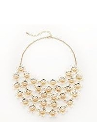 Candies Candies Gold Tone Simulated Pearl Flower Bib Necklace
