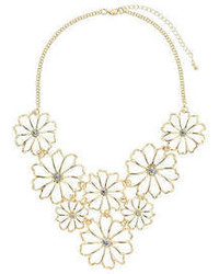 Dorothy Perkins Metal Flower Necklace