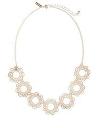 Topshop Floral Cutout Necklace