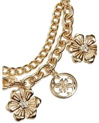 GUESS Hannah Floral Charm Necklace