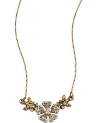 Lolita Jewelry Vintage Gold And Crystal Floral Branch Pendant Necklace