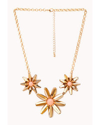 Forever 21 Simply Stated Floral Necklace
