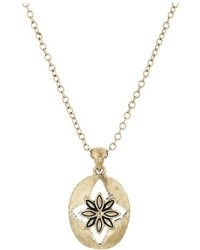 The Sak Floral Oval Pendant Necklace 16 Necklace