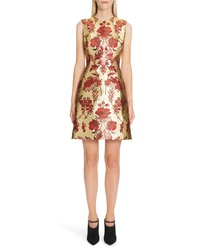 Dolce & Gabbana Metallic Jacquard A Line Dress
