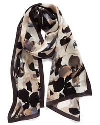 Vince Camuto Fancy Floral Print Silk Scarf