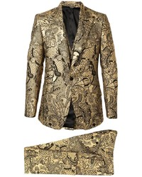 Dolce & Gabbana Floral Brocade Two Piece Suit