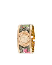 Gucci Floral Cuff Watch