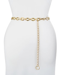 Neiman Marcus Geo Chain Belt Golden