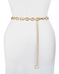Neiman Marcus Geo Chain Belt Golden