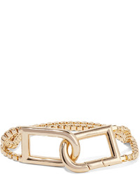 Eddie Borgo Allure Clip Gold Plated Bracelet One Size