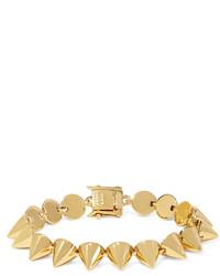 Eddie Borgo Cone Gold Plated Bracelet One Size