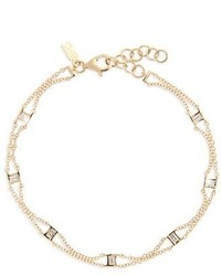 Ef Collection Lucky 7 Baguette Chain Diamond Bracelet