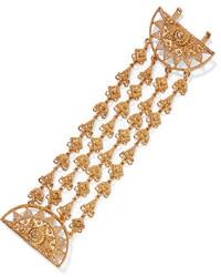 Oscar de la Renta Ornate Gold Tone Bracelet One Size