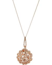 Roberto Coin Mauresque 18k Rose Gold Diamond Pendant Necklace