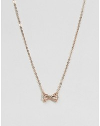 Ted Baker Tiny Geometric Bow Pendant Necklace