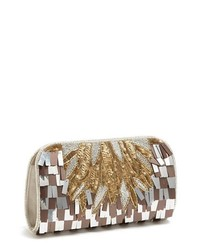 Micky London Handbags Deco Sequin Clutch