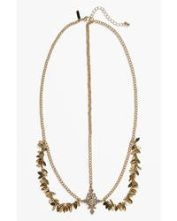 Topshop Golden Leaf Head Chain