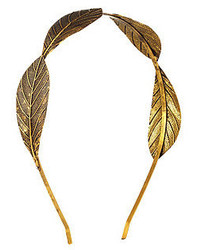 Charlotte Russe Embossed Metal Leaf Headband