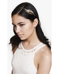 Express Pave Metal Leaf Stretch Headband