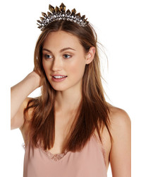 Noir Glitzy Crystal Crown Headband