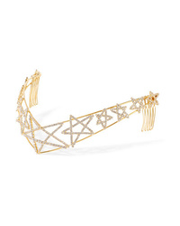 LELET NY Gold Plated Crystal Headband