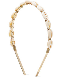 LELET NY Gold Plated Faux Shell Headband