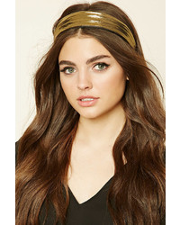 Forever 21 Metallic Scrunched Headband