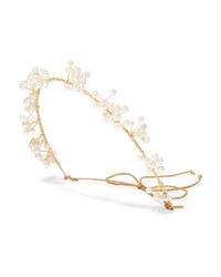 Jennifer Behr Primavera Gold Tone Swarovski Pearl Headband