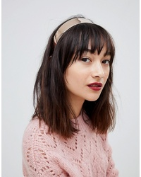 ASOS DESIGN Sleek Metal Headband In Gold