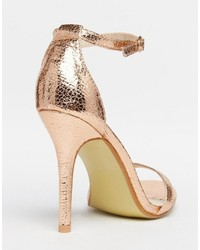 fdf0398f5969 ... Glamorous Gold Patent Two Part Heeled Sandals ...