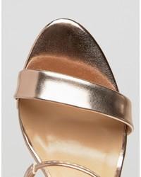 e5dc3b6c82 True Decadence Rose Gold Metallic Ankle Tie Heeled Sandals, $45 ...