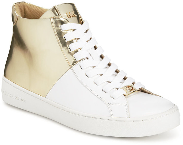 9b931e50ce1e3 ... MICHAEL Michael Kors Michl Michl Kors Toby Lace Up High Top Sneakers ...