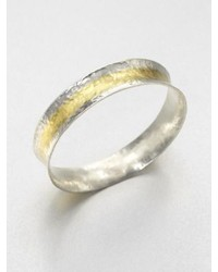 Gurhan Sterling Silver 24k Yellow Gold Bangle Braceletstriped
