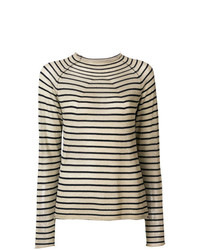 Forte Forte Crew Neck Striped Sweater