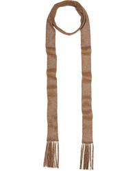 Missoni Metallic Crochet Knit Scarf Gold