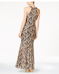Night Way Nightway Lace Keyhole Mermaid Halter Gown Where To Buy